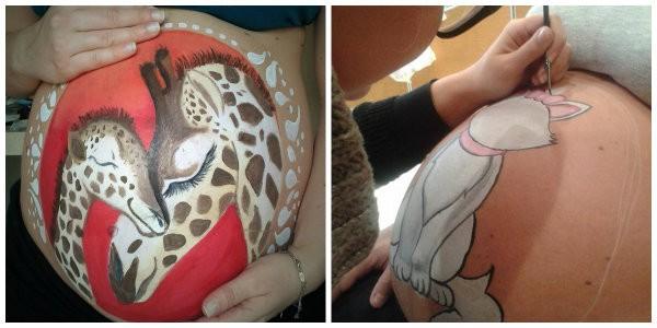 belly painting lara pellicano istituti professionali 1
